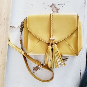 Moda luxe mustard crossbody purse